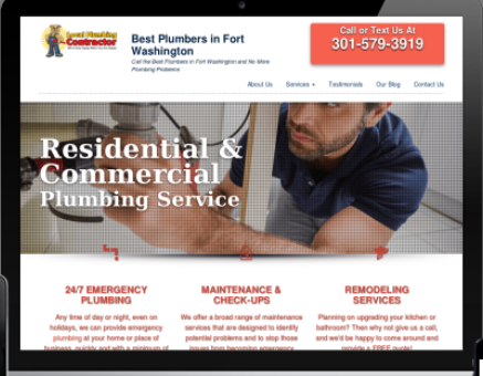 plumber website design digitial marketing agency diva consultant